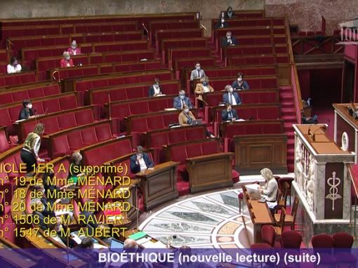 Projet de loi bioéthique : le marathon continue avec de moins en moins de députés